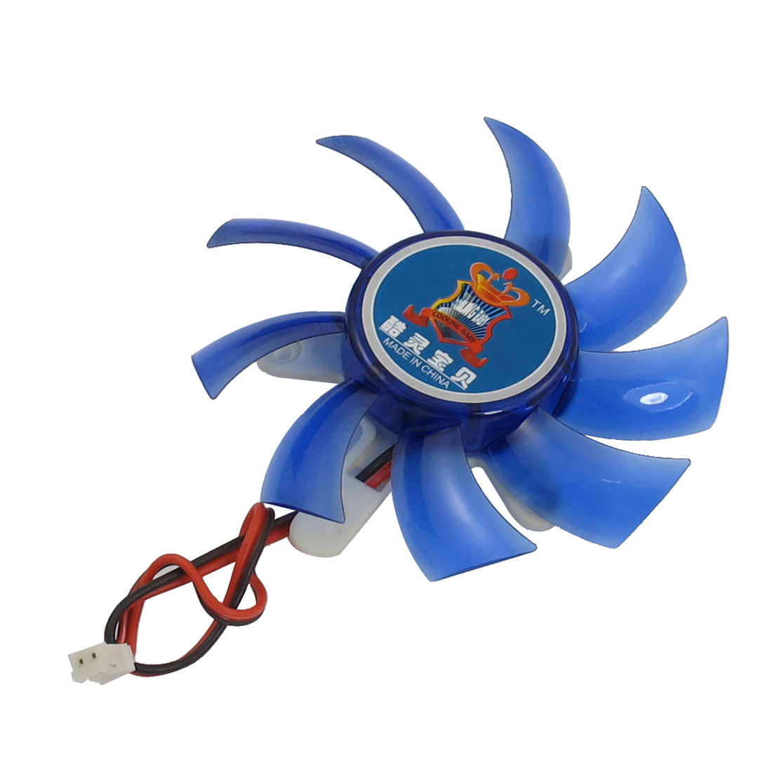 Blue Plastic Flabellums VGA Cooler Video Card Cooling Fan 75mm 12VDC
