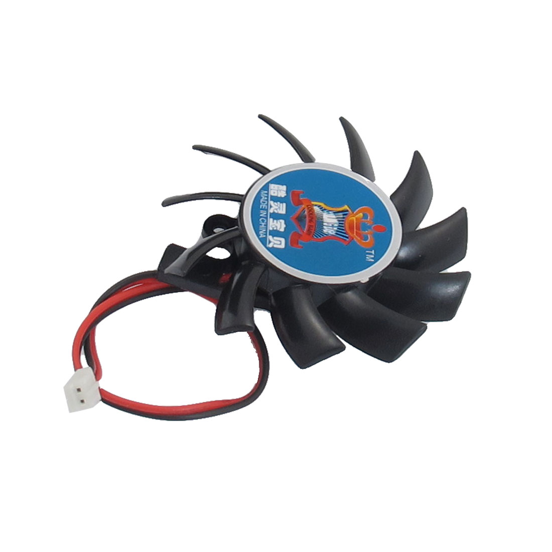 55mm Black Plastic Flabellums VGA Cooler Video Card Cooling Fan DC 12V