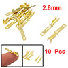 10 Pcs Gold Tone Male Spade Crimp Terminals 2.8mm Wiring Connectors