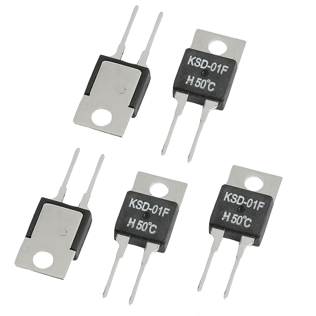 5 Pcs 50 Celsius NO Normal Open Temperature Switch Thermostat KSD-01F H50C