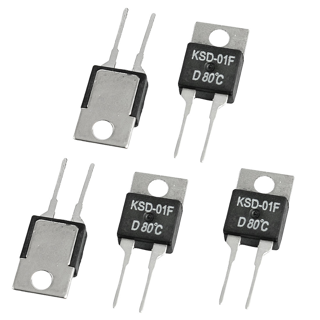 5 x KSD-01F 80 Celsius NC Temperature Switch Thermostat 1.5A 250VAC/ 24VDC