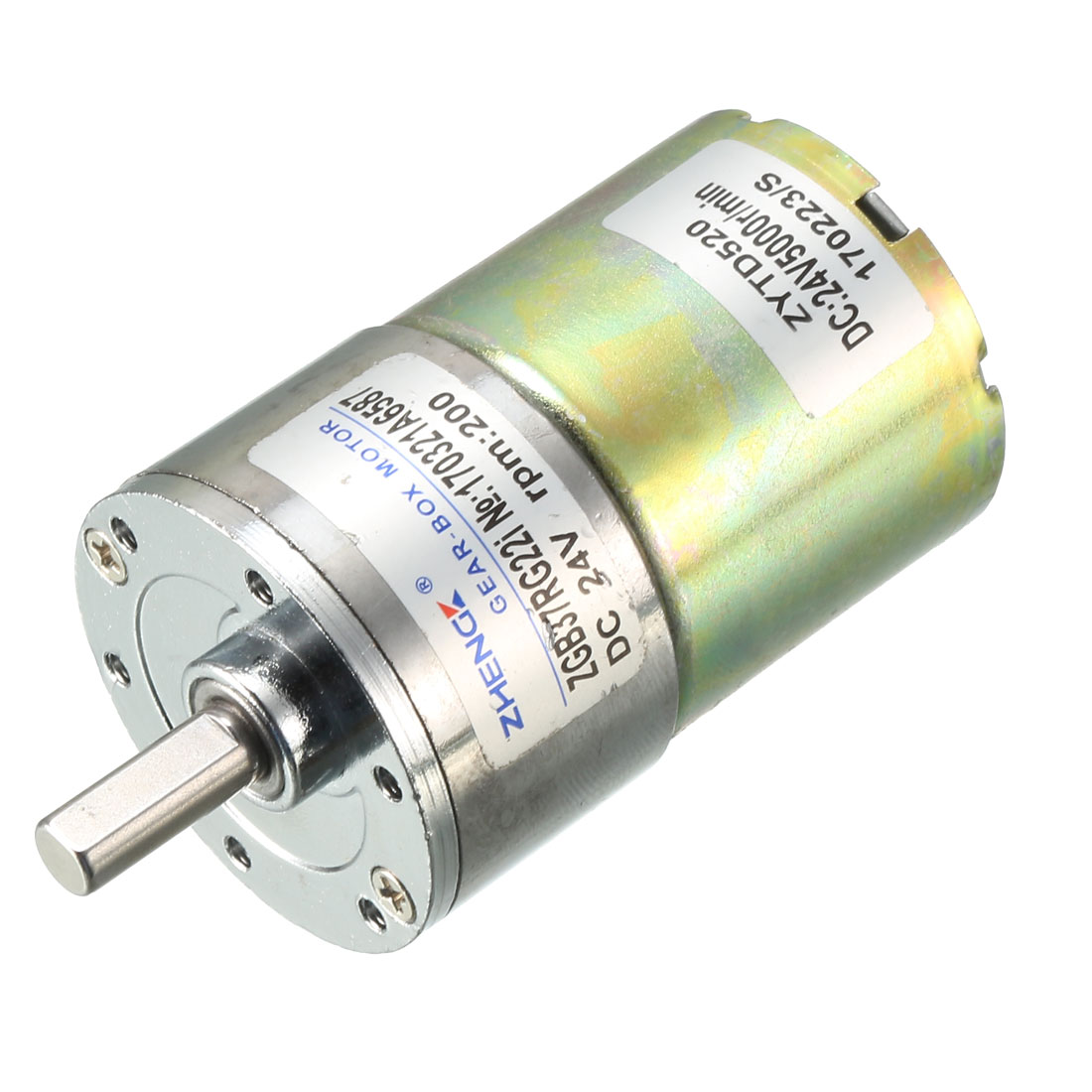 30RPM Output Speed 36mm Diameter 24V 0.33A DC Geared Motor