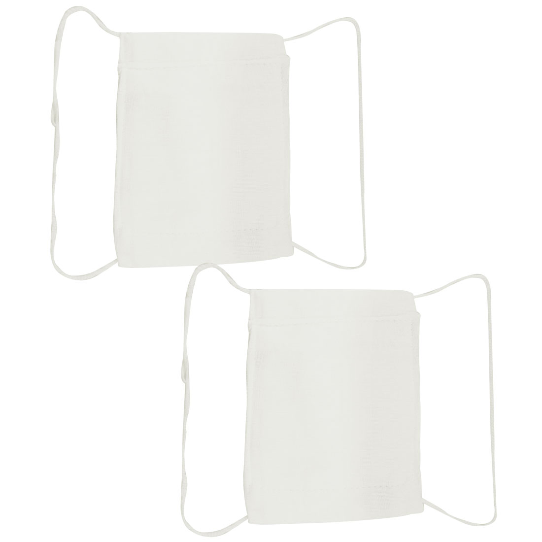 14cm x 18cm Washable White Protect Soft Cotton Face Mouth Mask 2 Pcs