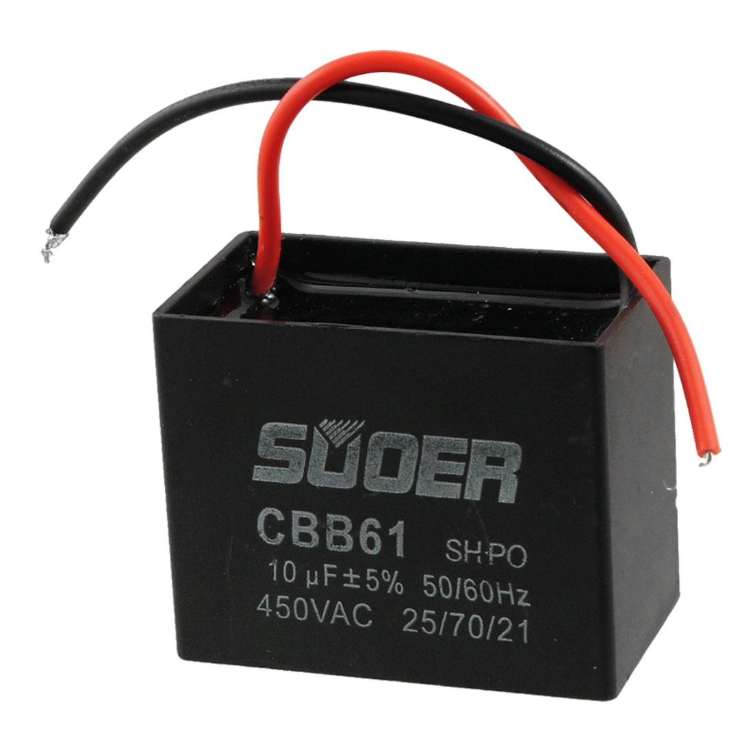 450V 10uF Polypropylene Film Motor Running Capacitor