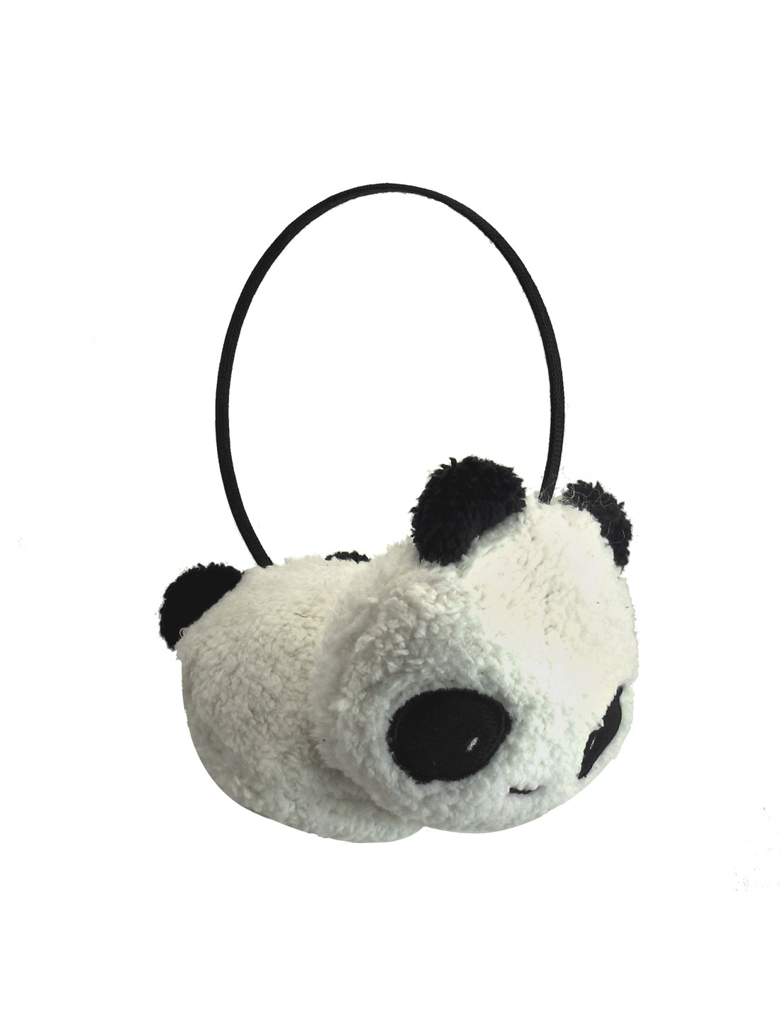 Gilrs Black White Small Panda Design Pad Fluffy Ear Warmer Earmuffs