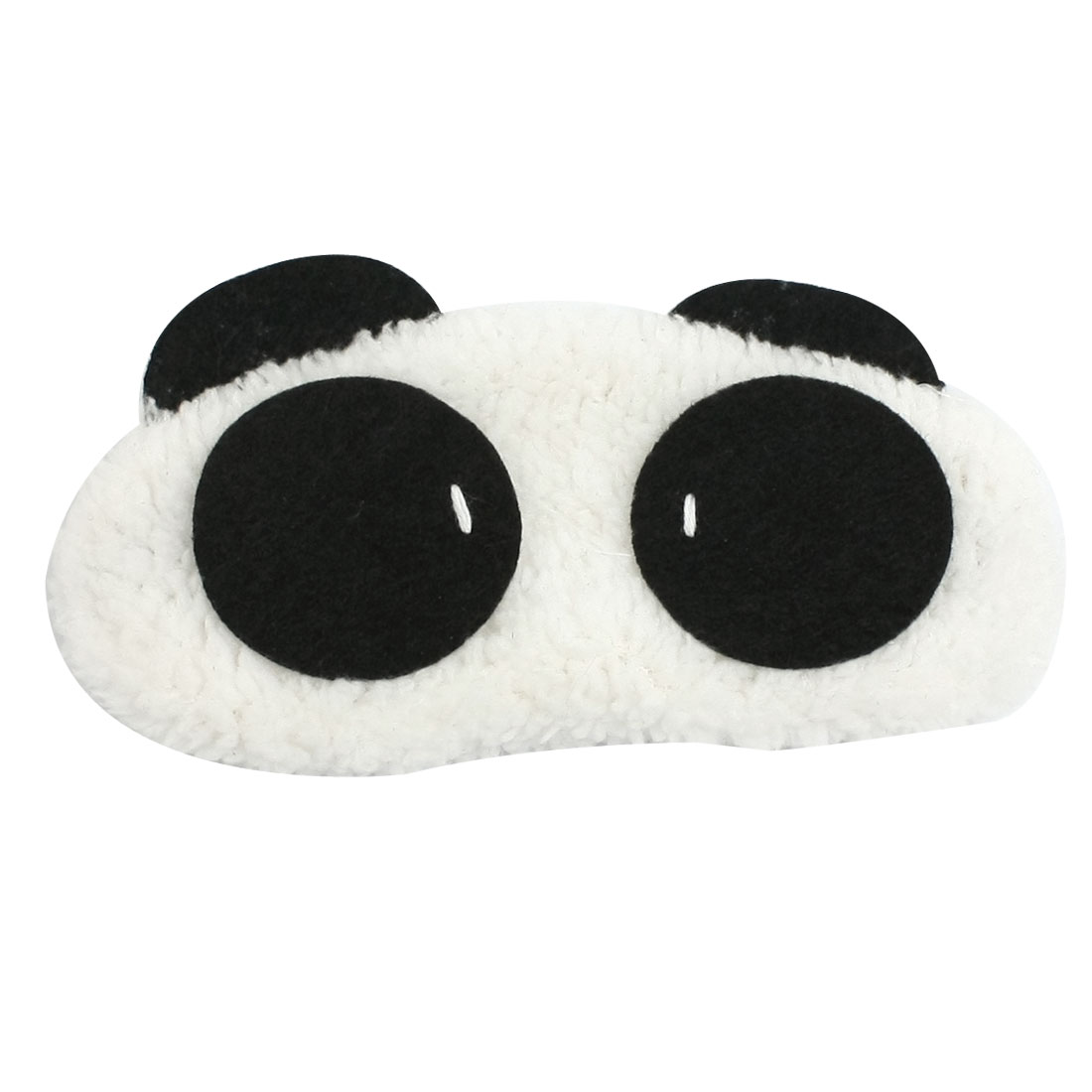 Black White Plush Cartoon Panda Design Elastic Strap Eyeshade