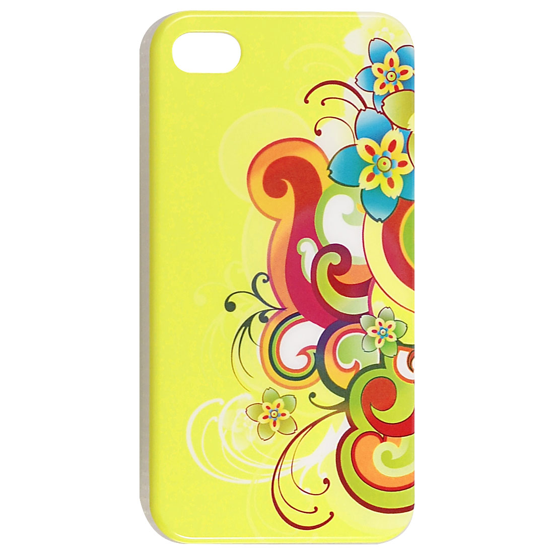 IMD Colorful Flower Pattern Protective Hard Plastic Back Case for iPhone 4 4G 4S