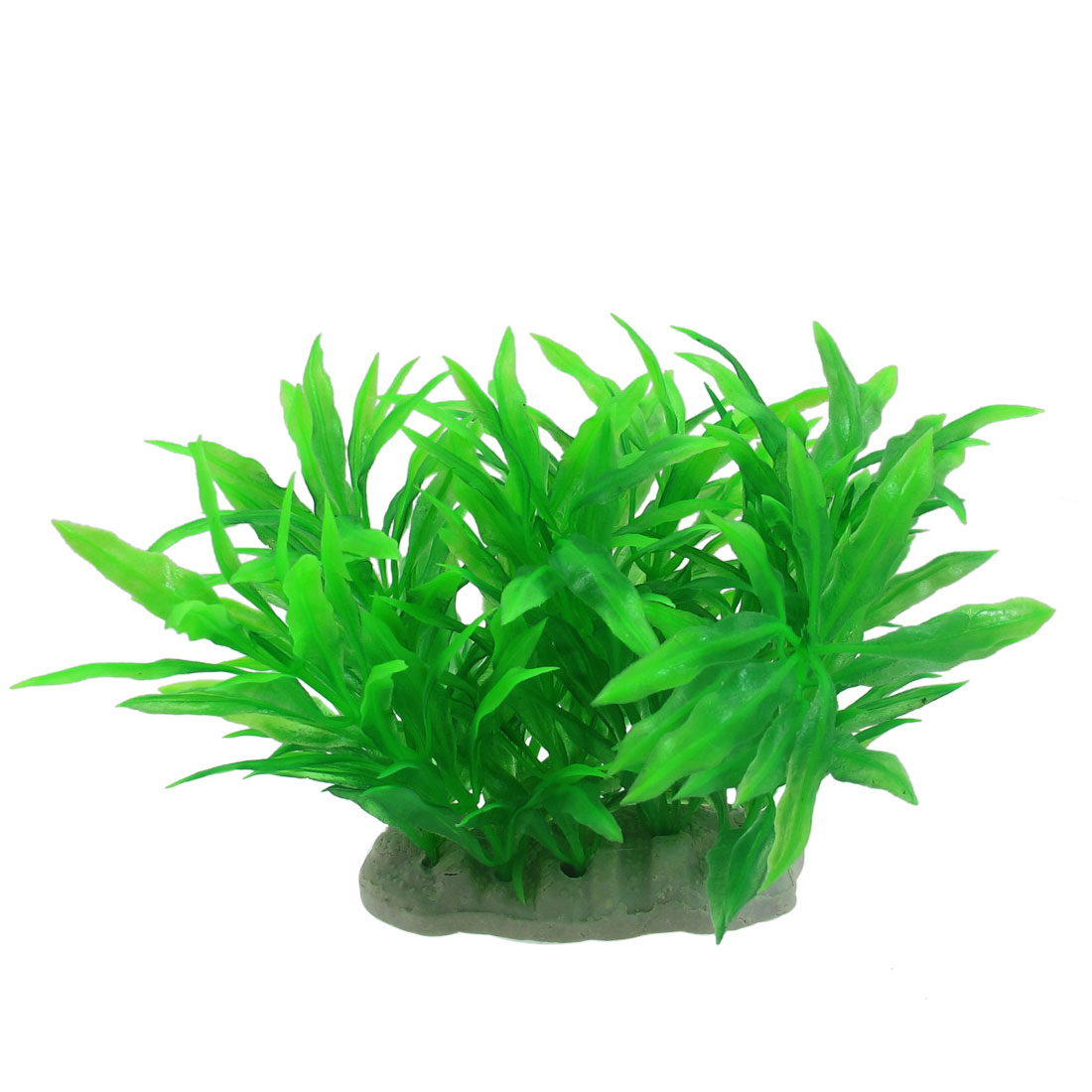 "Aquarium Fish Tank Aquascaping Green Plastic Artificial Plants 3.9"" Height"
