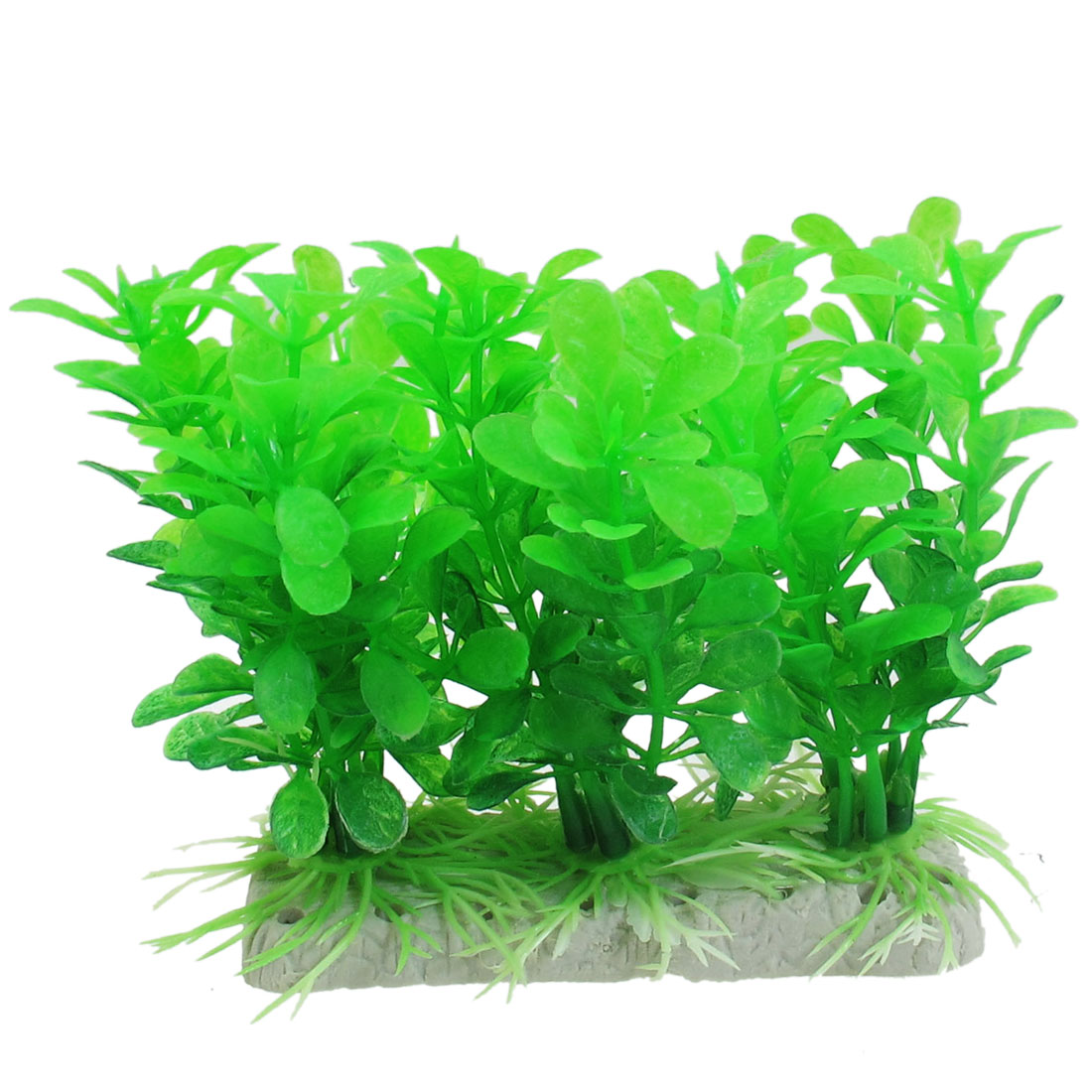 "3.9"" Height Aritficial Green Plastic Plants Aquarium Ornament"