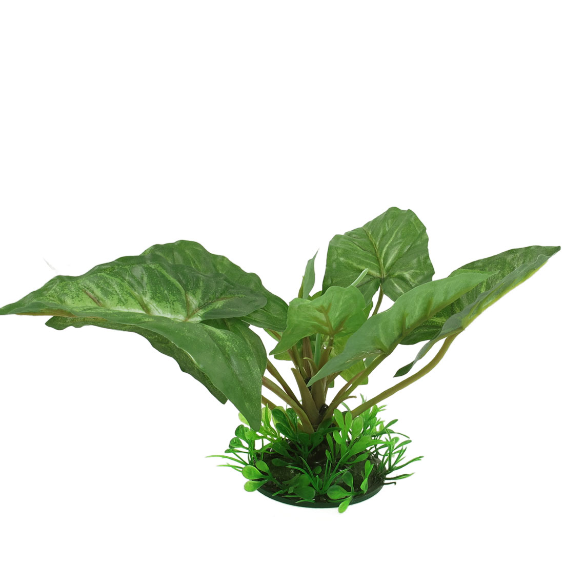 "Aquarium Decor Dark Green Plastic Long Leaves Grass Plant 3.94"" Height"