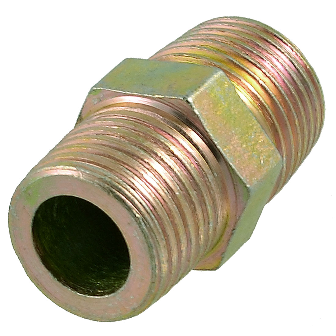 Brass Tone 20mm Male Thread Pipe Connector Threads Fitting Adapter