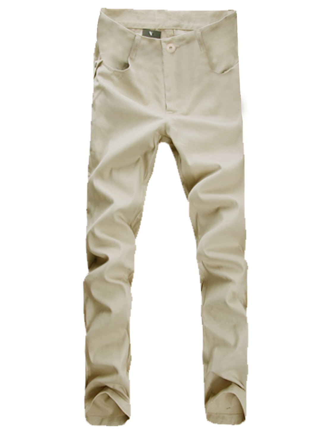 Mens Off White Casual Button Down NEW Stylish Straight Trousers Pants W33