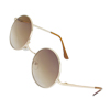 Child Round Gradient Tinted Lens Brown Full Rim Frame Outdoor Sport Sunglasses