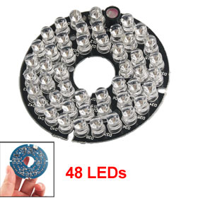 CCTV CCD Camera 60 Degree Red 48 LED Infrared Bulb Board Plate