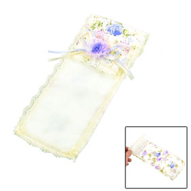 "Purple Flower Decor TV Remote Control Cover 10.2"" x 3.5"""