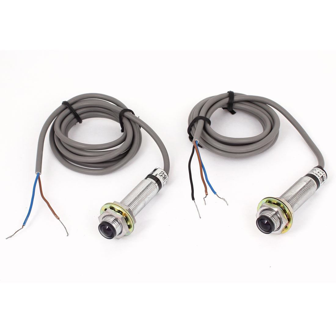 DC 3 Wire 6-36V NPN NO Transmitter Receiver Photoelectric Sensor 2M