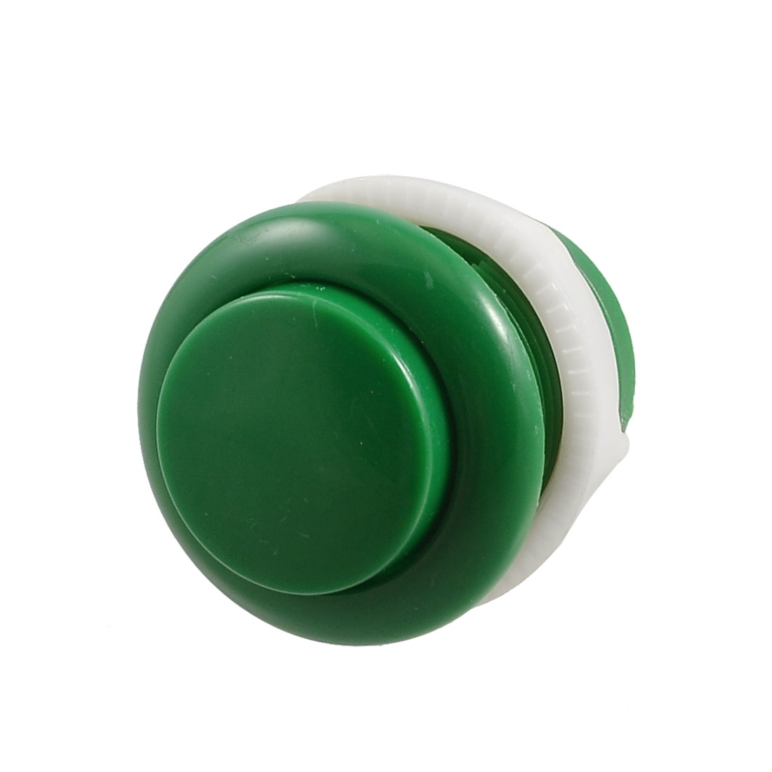 Green Plastic 28mm Dia Soldering Arcade Game PCB Push Button