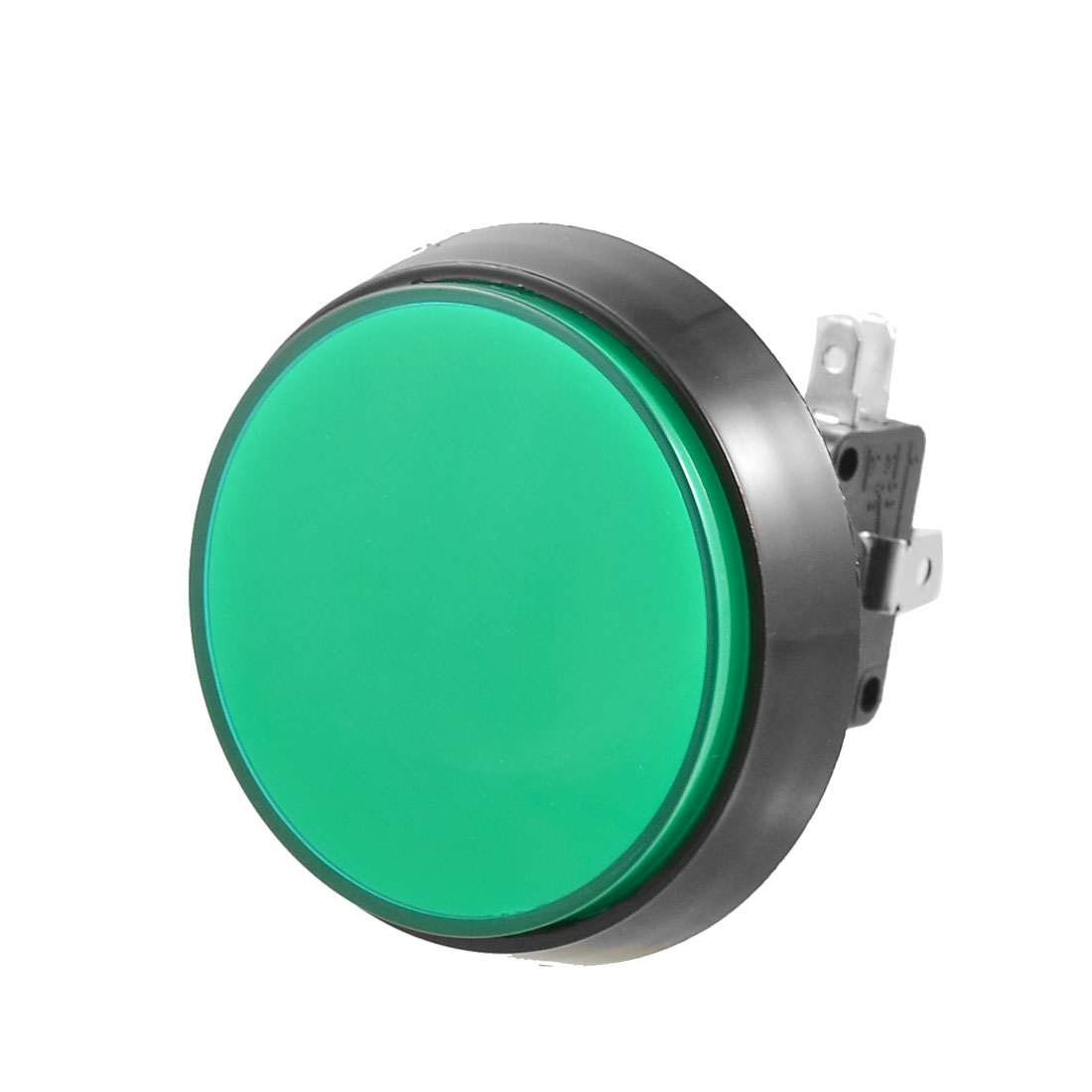 Arcade Game AC 250V 15A 50mm Dia Circular Push Button Green + Micro Switch