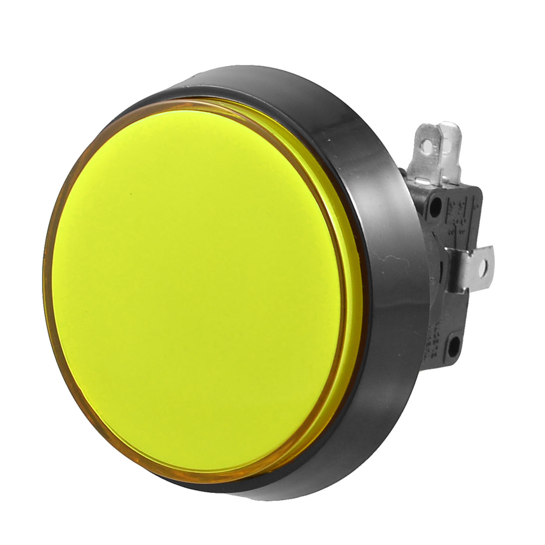 50mm Dia Yellow Round Push Button w Micro Limit Switch for Arcade Video Game