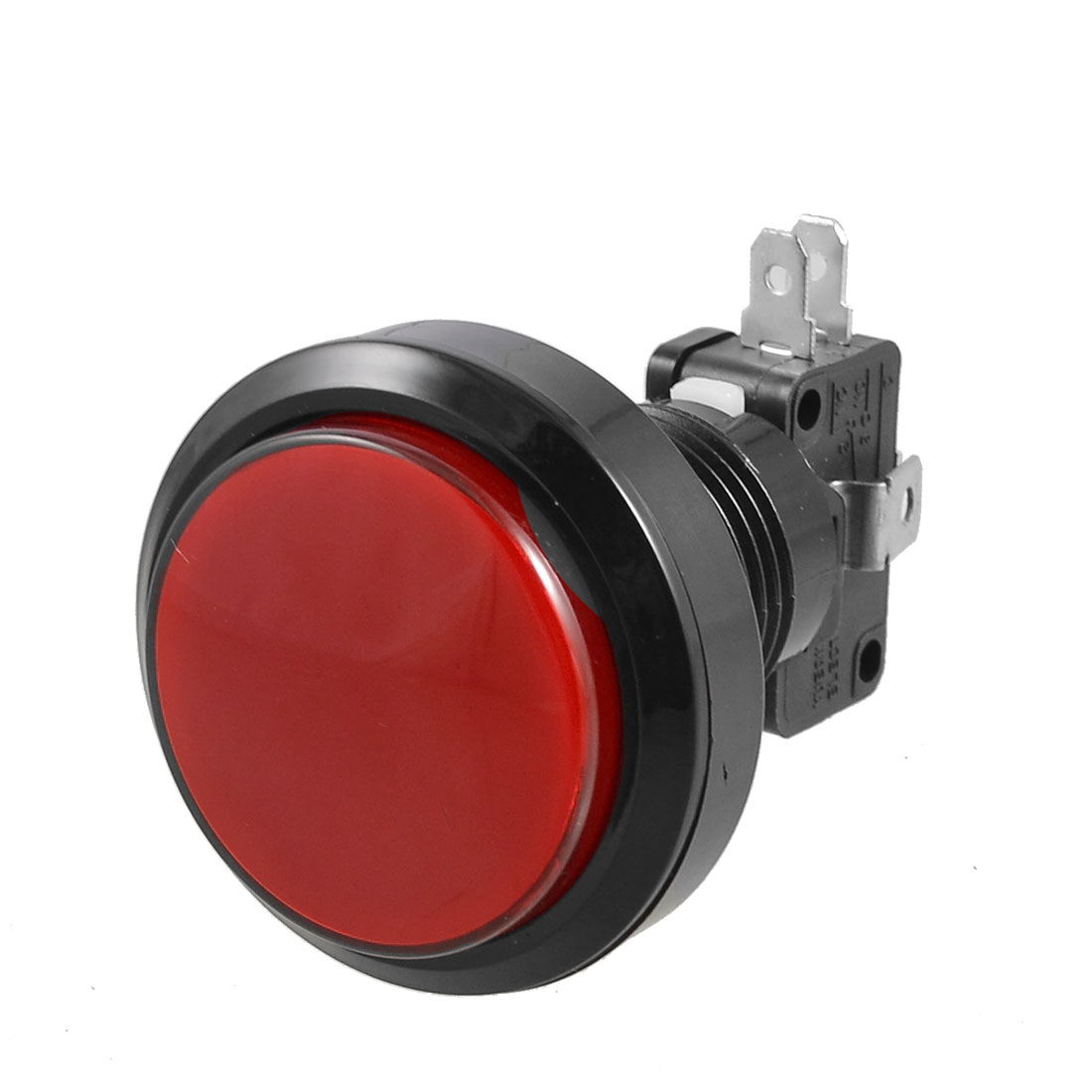 Arcade Game AC 250V 15A 36mm Dia Red Light Push Button + 1NC 1NO Micro Switch
