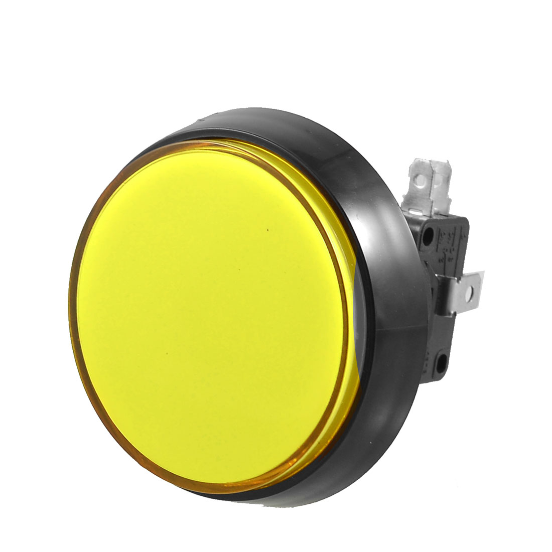 Arcade Game 52mm Yellow Illuminated Momentary Push Button SPDT Micro Switch