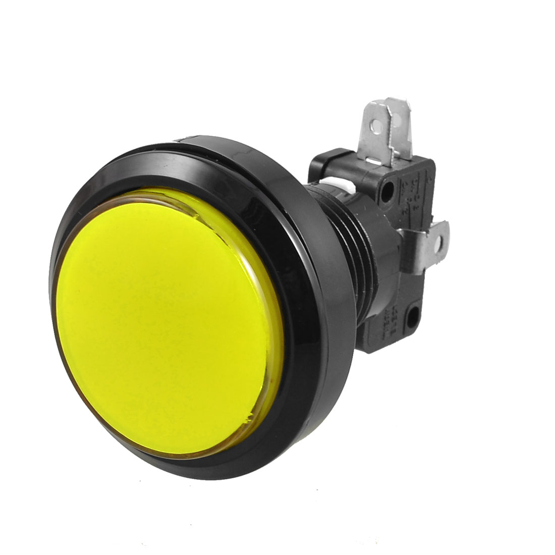 Yellow LED Lamp 36mm Dia Round Push Button w Limit Switch for Arcade Video Game