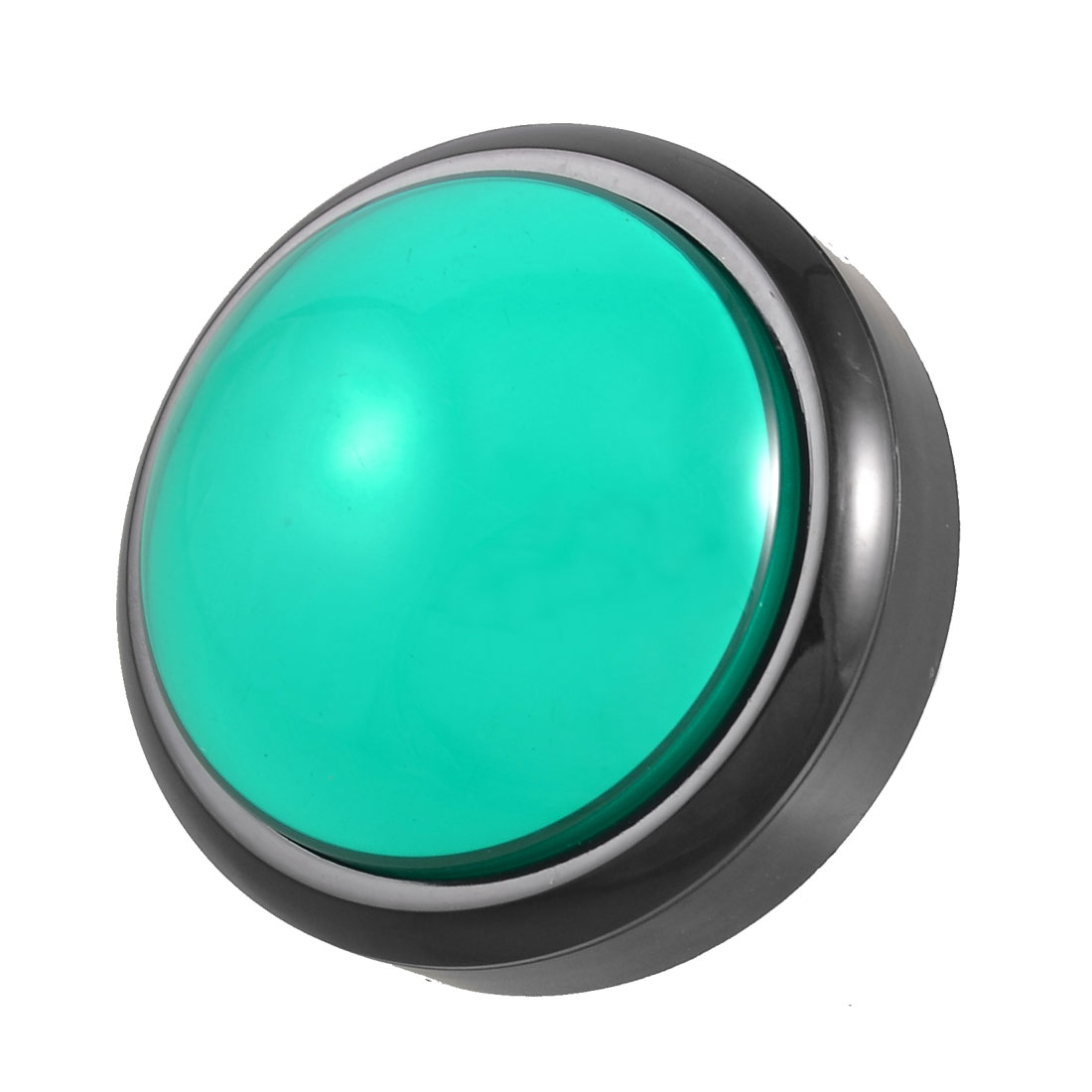 Arcade Game AC 250V 3A SPST 79mm Dia Green Cap Push Button Switch
