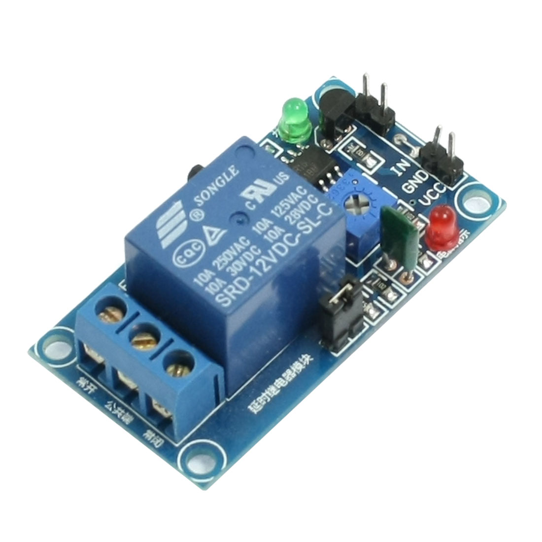 12V PCB Board Normal Open Triggered Time Delay Relay Module