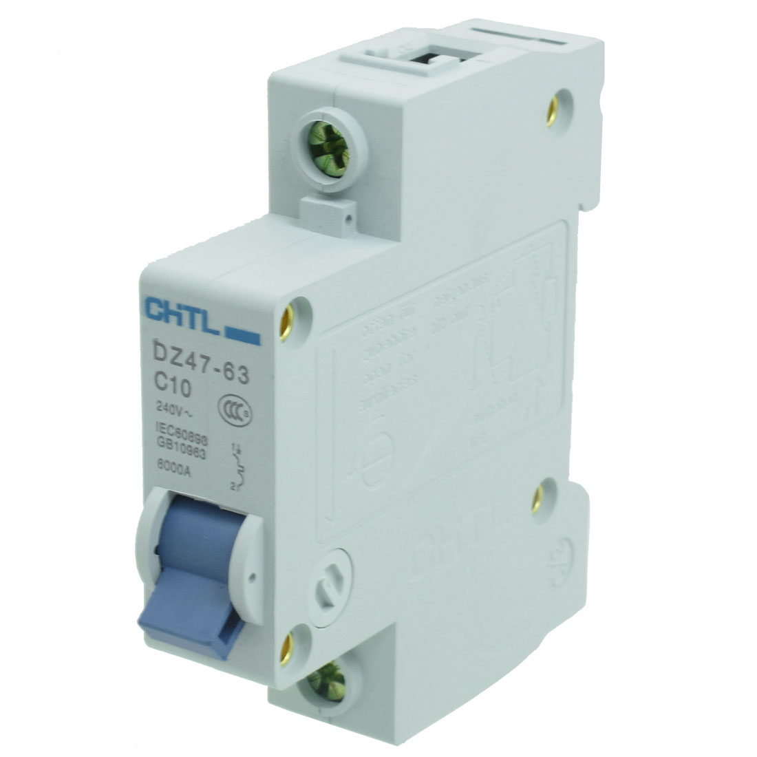 AC 240V Rated Current 10A Single Pole Miniature Circuit Breaker