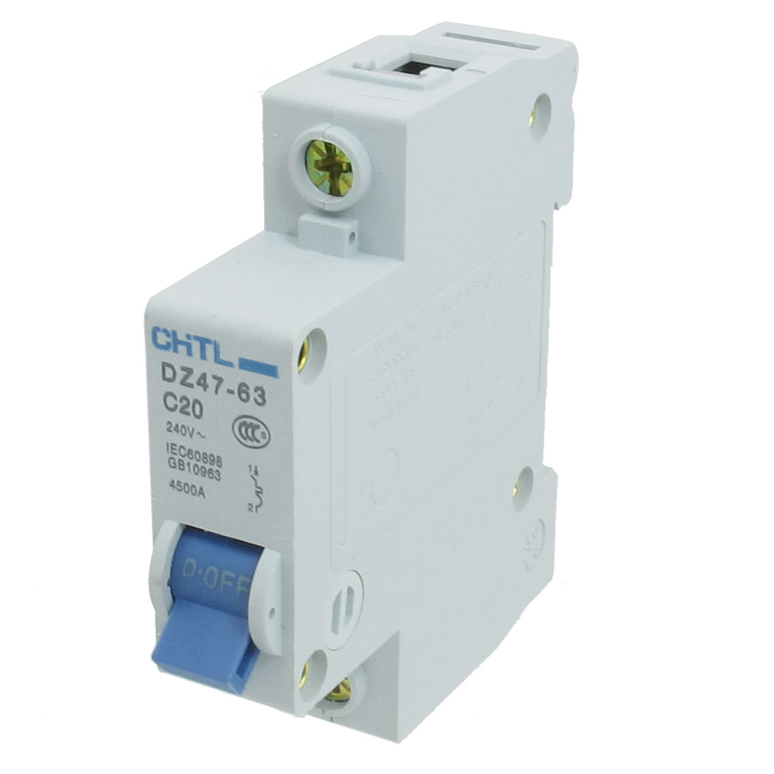 AC 240V Rated Current 20A Single Pole Miniature Circuit Breaker