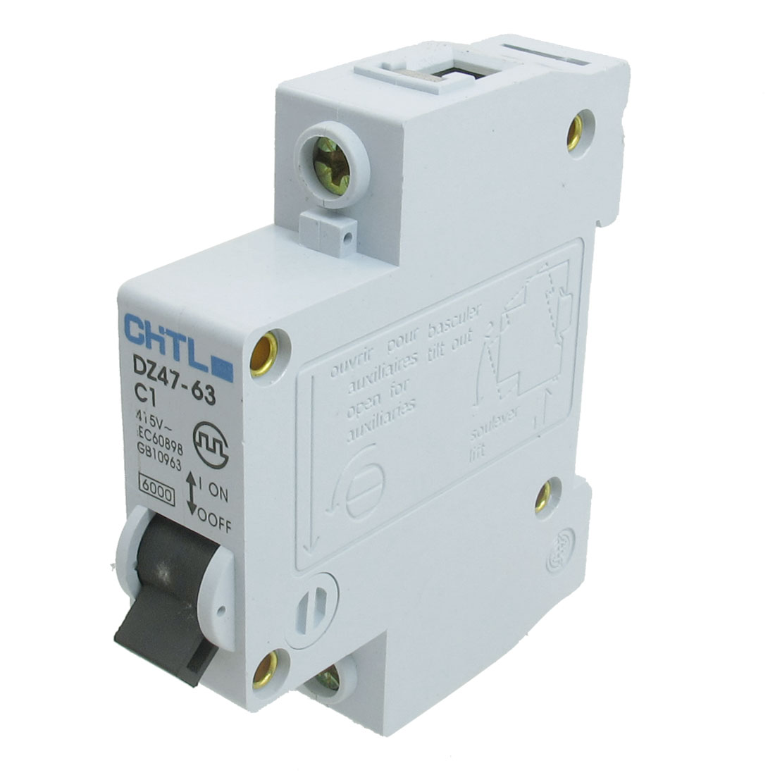 AC 415V Rated Current 1A Single Pole Miniature Circuit Breaker
