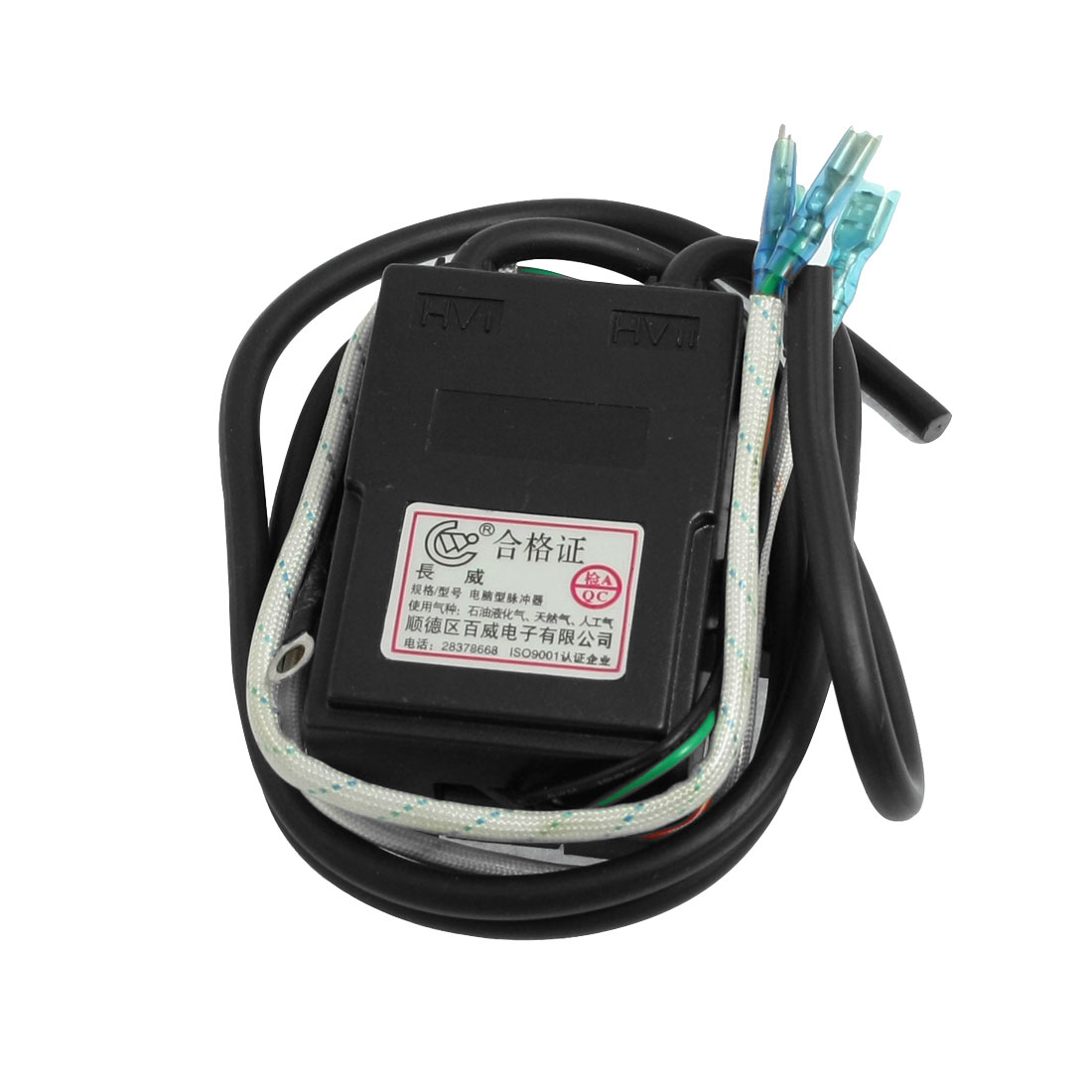 IC Control Double Ignitering Cord Flue Gas Stove Pulse Igniter Black