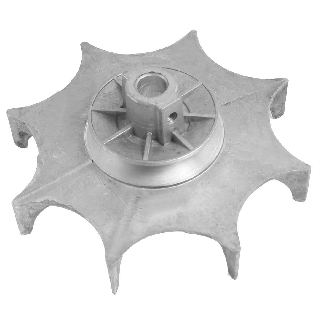 12mm Bore Diameter Aluminum Alloy Motor Blower Fan Wheel Silver Tone