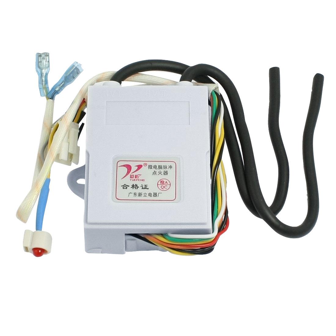 Plastic Shell IC Control Double Ignitering Cord Flue Gas Stove Pulse Igniter