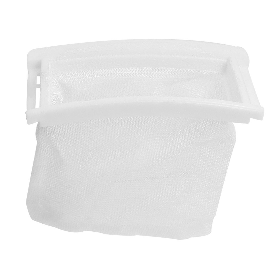 White Nylon Mesh Plastic Frame Washing Machine Filter Bag Spare Parts
