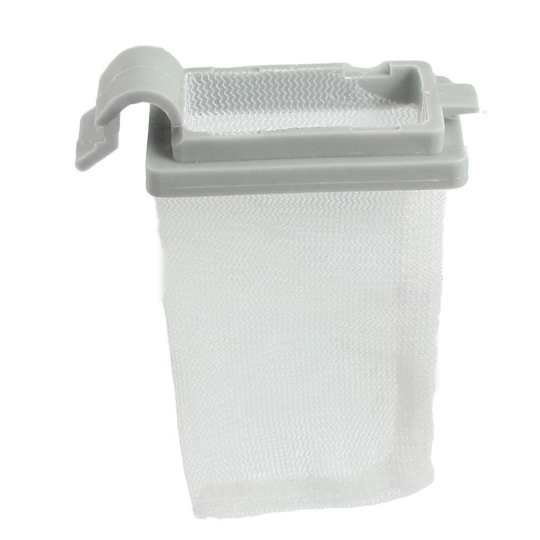 White Nylon Mesh Gray Plastic Frame Washing Machine Filter Bag Replacement