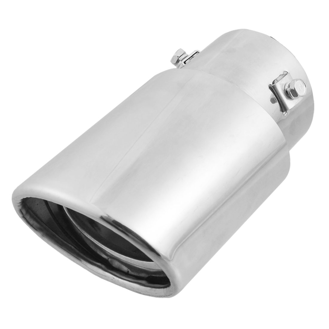 60mm Inlet Oval Slant Cut Metal Car Exhaust Pipe Muffler Tip
