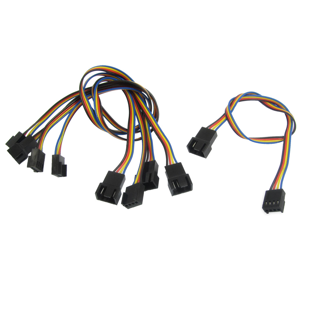 5 Pcs 4-pin Male to Female Motherboard Extension Cable Cord for Computer