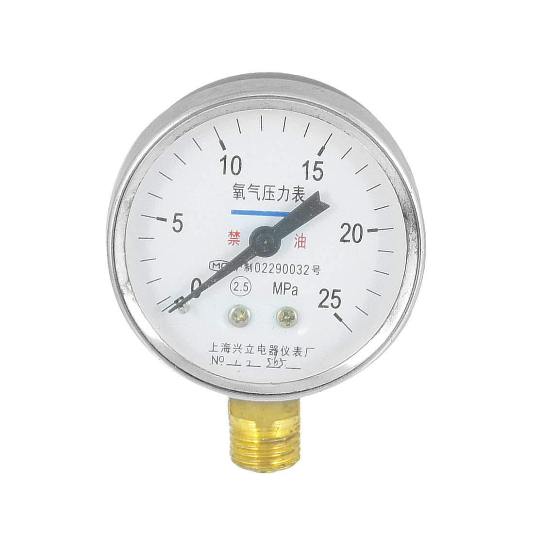 "25 MPa Accuracy Class 2.5 Round Dial 3/8"" NPT Pneumatic Pressure Gauge Tool"