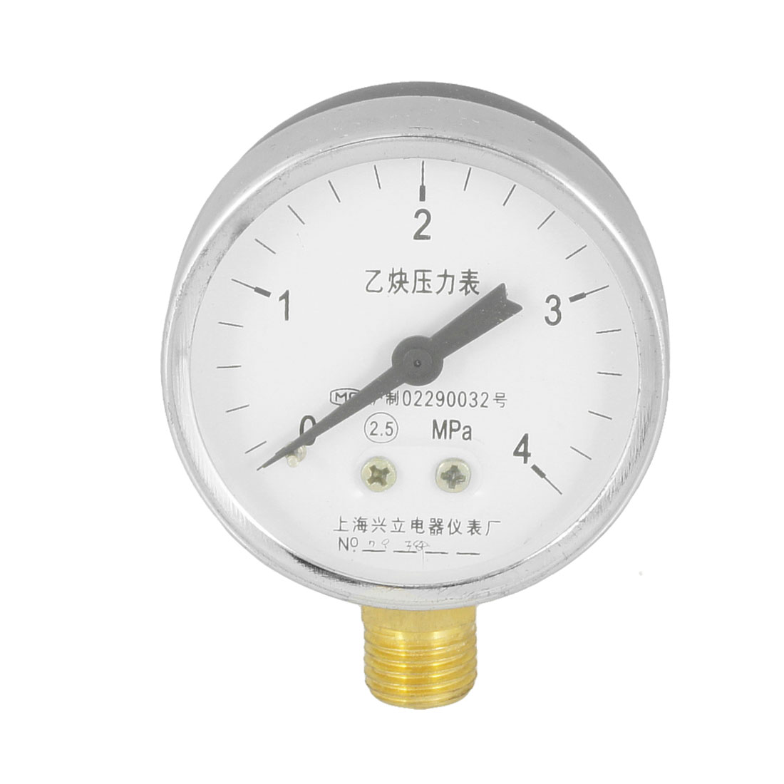 2.5 Accuracy Class 0-4 Mpa 14mm Thread Metal Shell Acetylene Pressure Gauge