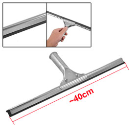 Plastic Blade Auto Car Window Brush Squeegee Wiper Cleaner Silver Tone Black