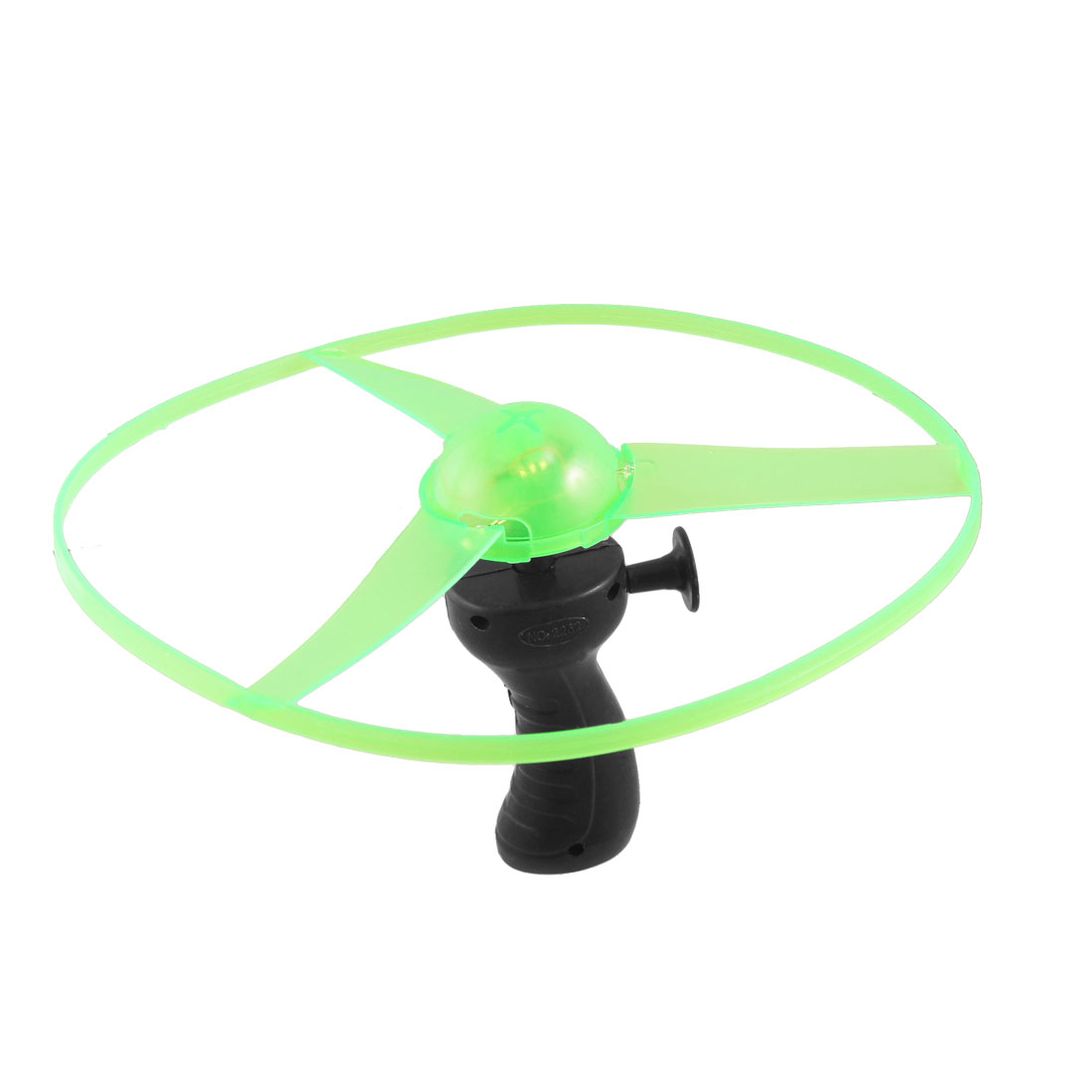 Children Plastic LED Pull String Flying Disk Saucers Helicopter Toy Green