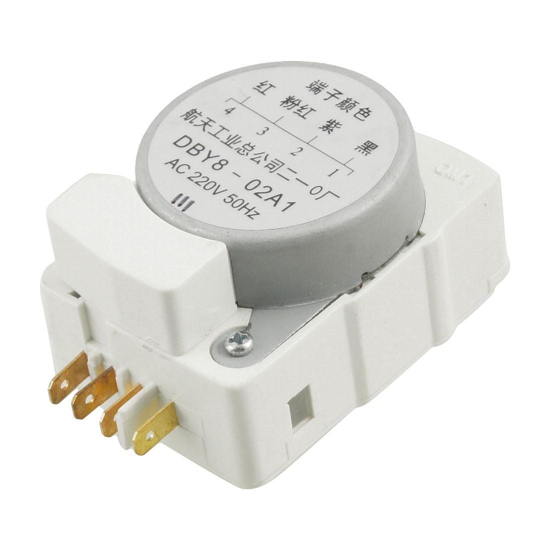 AC 220V 50Hz DBY8 02A1 4 Terminals Refrigerator Defrost Timer
