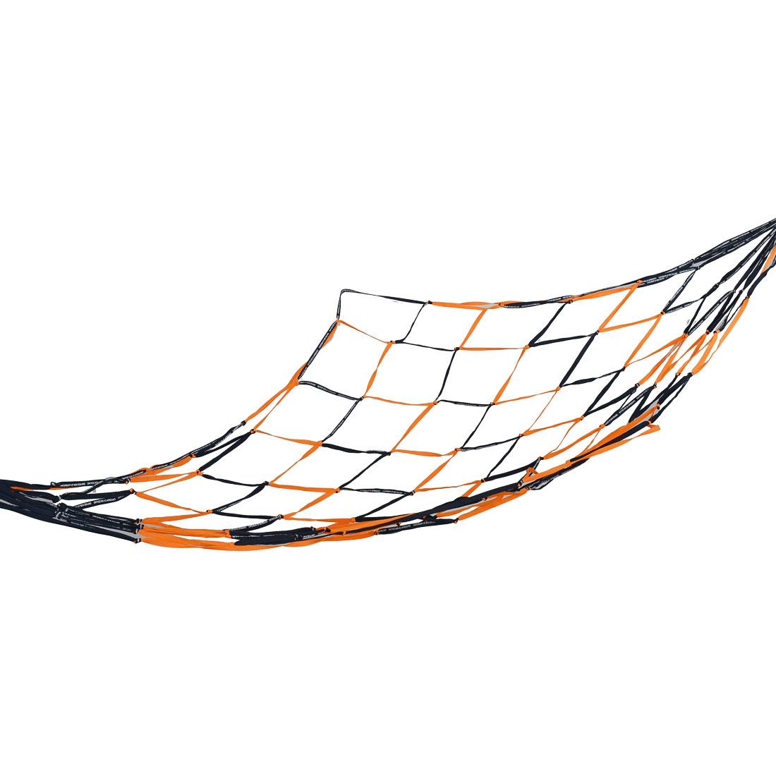 Travel Camping Outdoors Black Orange Mesh Nylon Weave Net Hammock