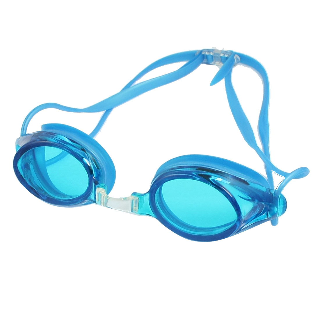 Replaceable Bridge Silicone Sky Blue Adjustable Double Headstraps Swimming Goggles