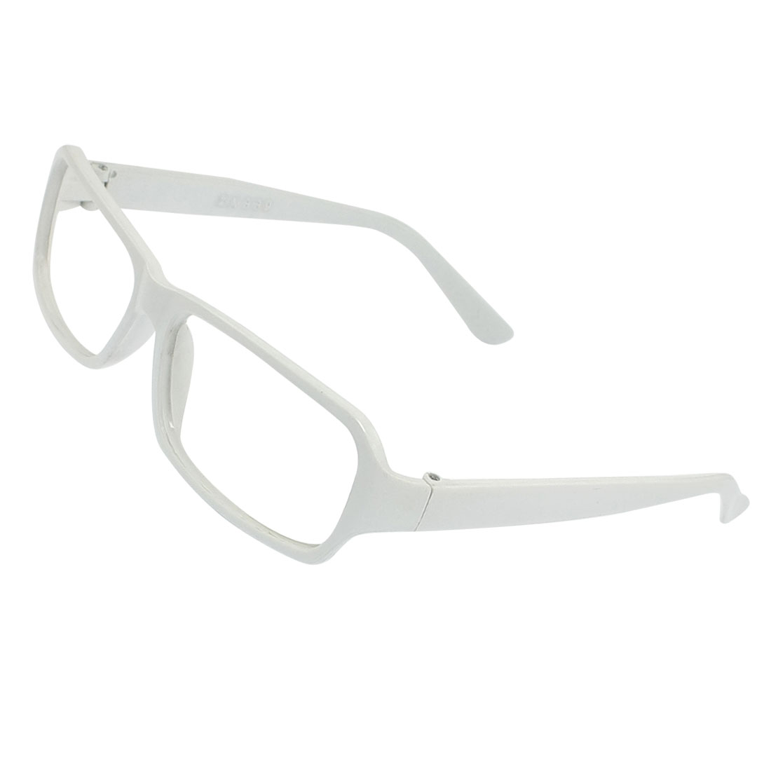 White Plastic Full Rims Eyewearing Glasses Frame for Women