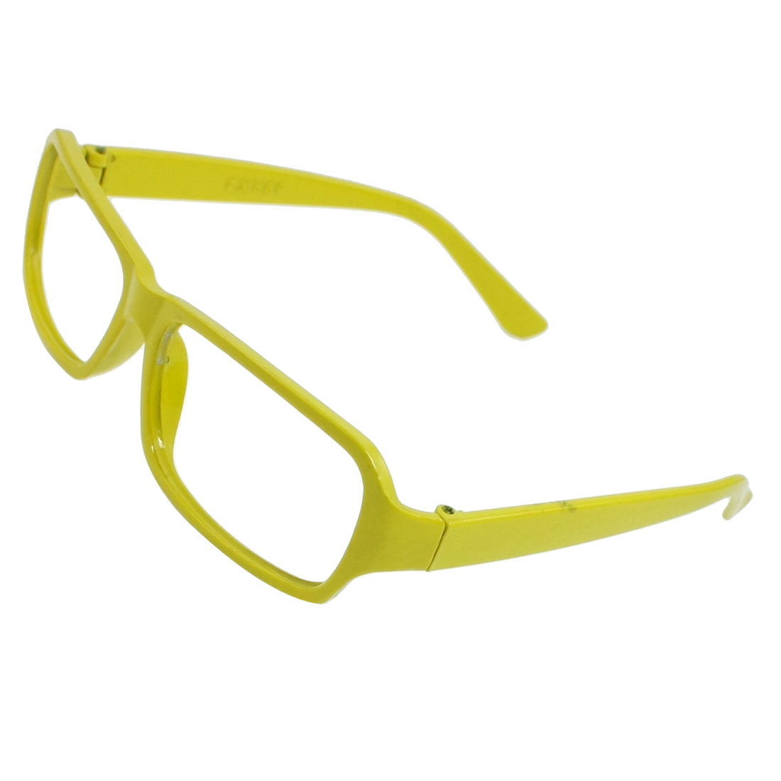 Yellowgreen Plastic Full Rims No Lens Spectacles Frame for Girls