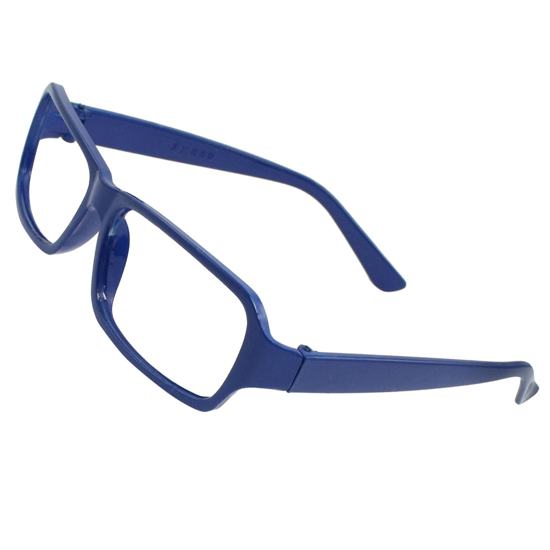 Ladies Dark Blue Plastic Full Rims Eyeglasses Frame