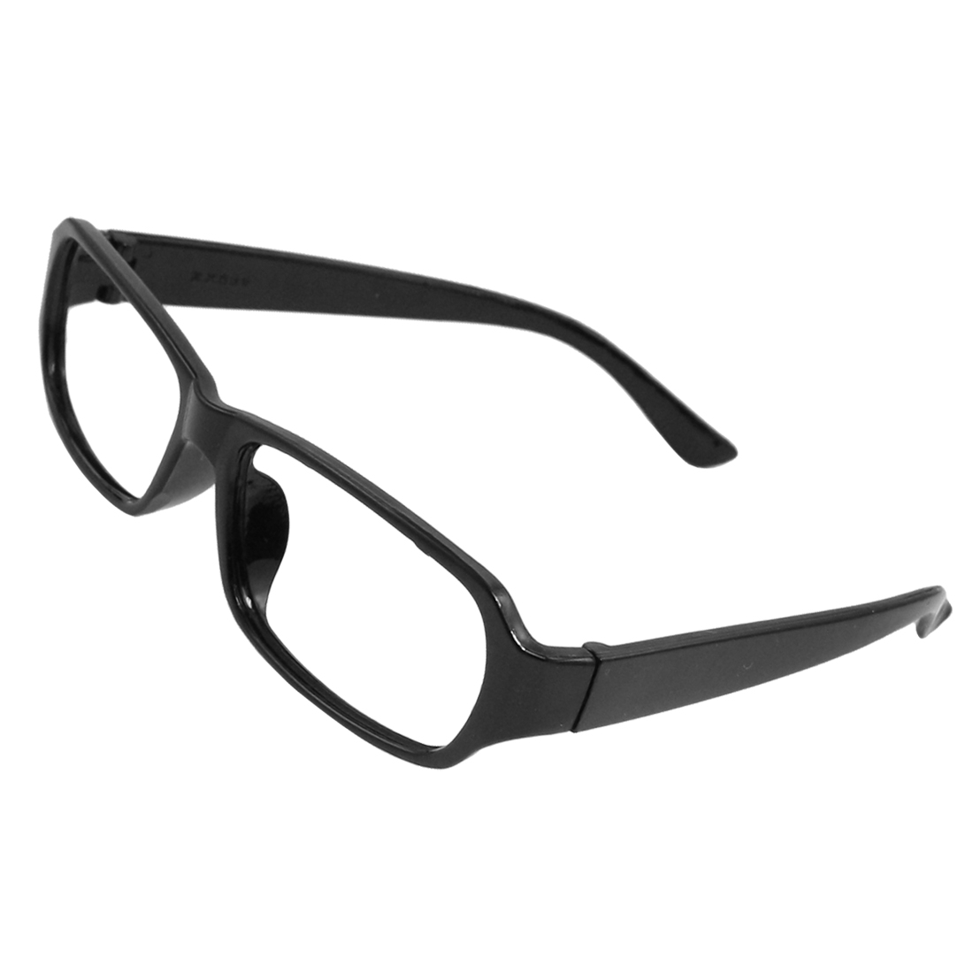 Plastic Black Arms Rectangular Full Rims Glasses Frame