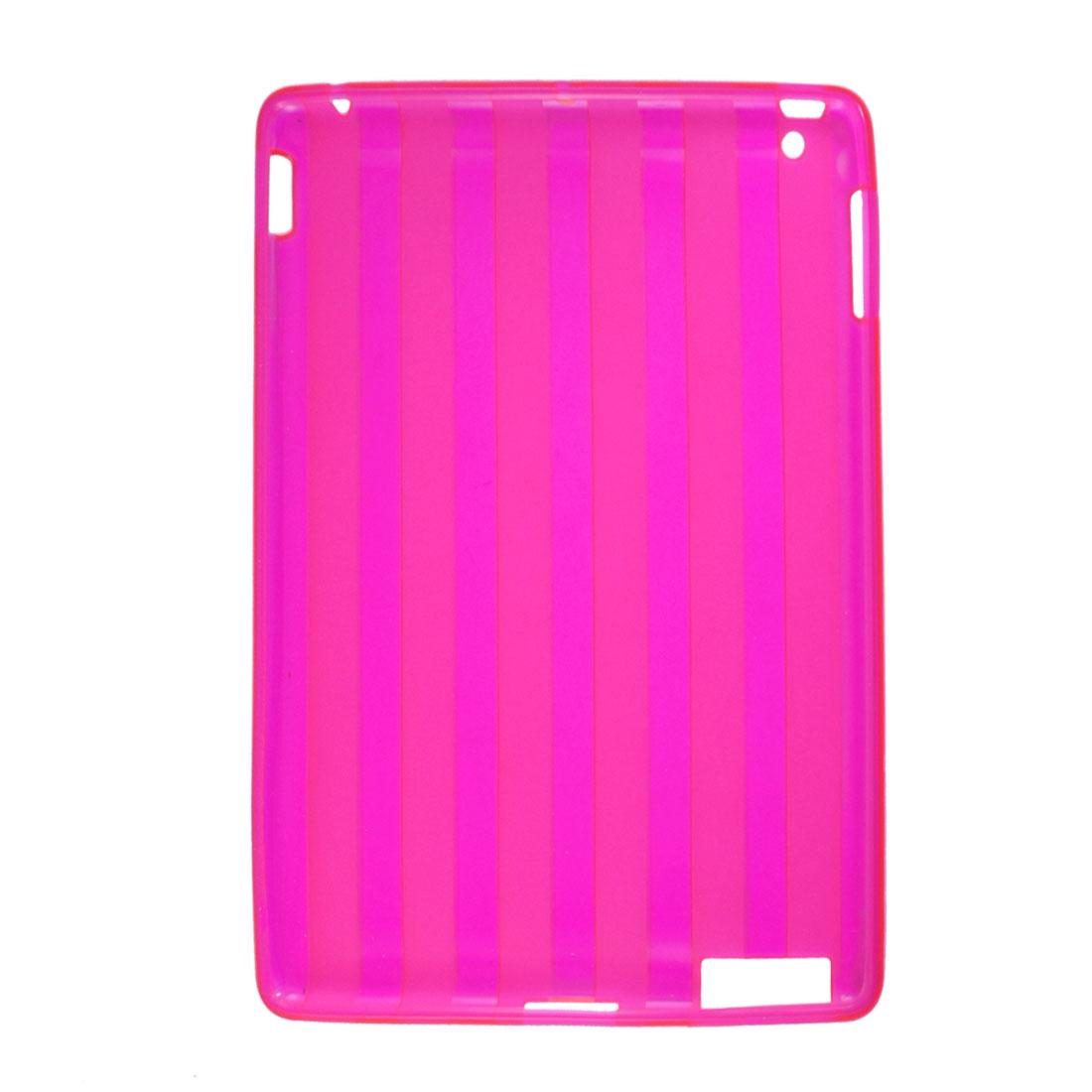 Fuchsia Amaranth Soft Plastic Vertical Stripe Protective Case for iPad 2 3